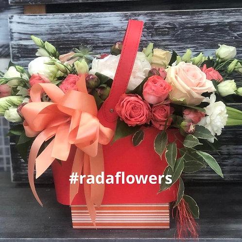 Коробка с цветами|Доставка Щербинка|Коммунарка|Москва и Московская область