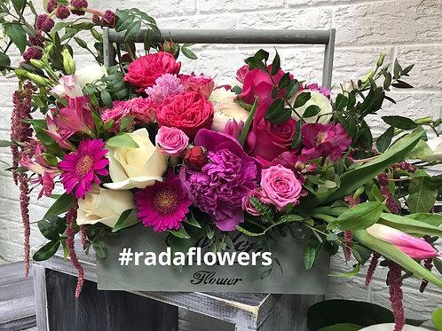 Цветы доставка Коммунарка Город Цветов  Москва и Московская область Корзина с цветами