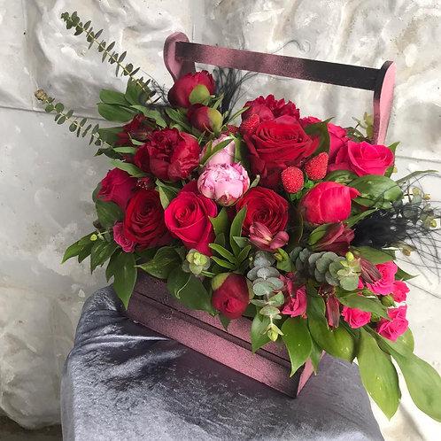 Корзина с цветами Доставка|Город Цветов|RadaFlowers |Цветы в Коммунарке|Цветы в Бунинские Луга|Доставка цветов в Переделкино