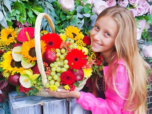 Купить корзину Самуила Маршака|Доставка цветов Бунинские луга|Цветы в Бутово|Доставка цветов и подарков Бунинские луга Москва