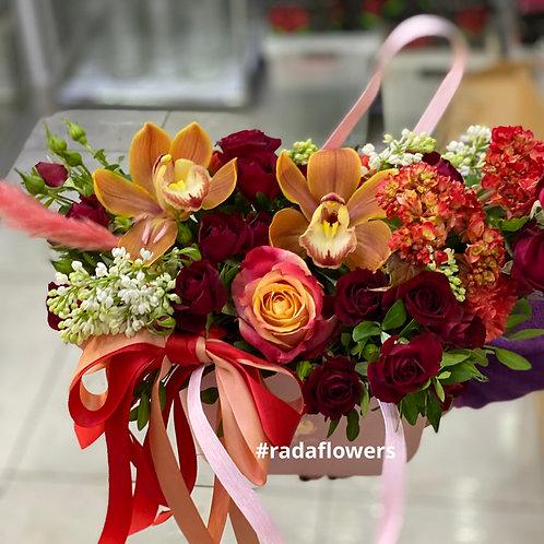 Доставка цветов в коробке|Орхидея |Коммунарка|Москва и Московская область