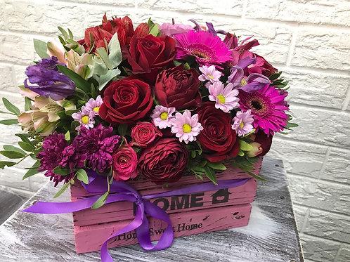 Цветы доставка Коммунарка|Город Цветов| Москва и Московская область|Корзина с цветами