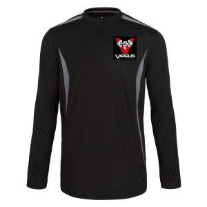 Vargus Fitness Men's Long Sleeve T-Shirt Black/Grey