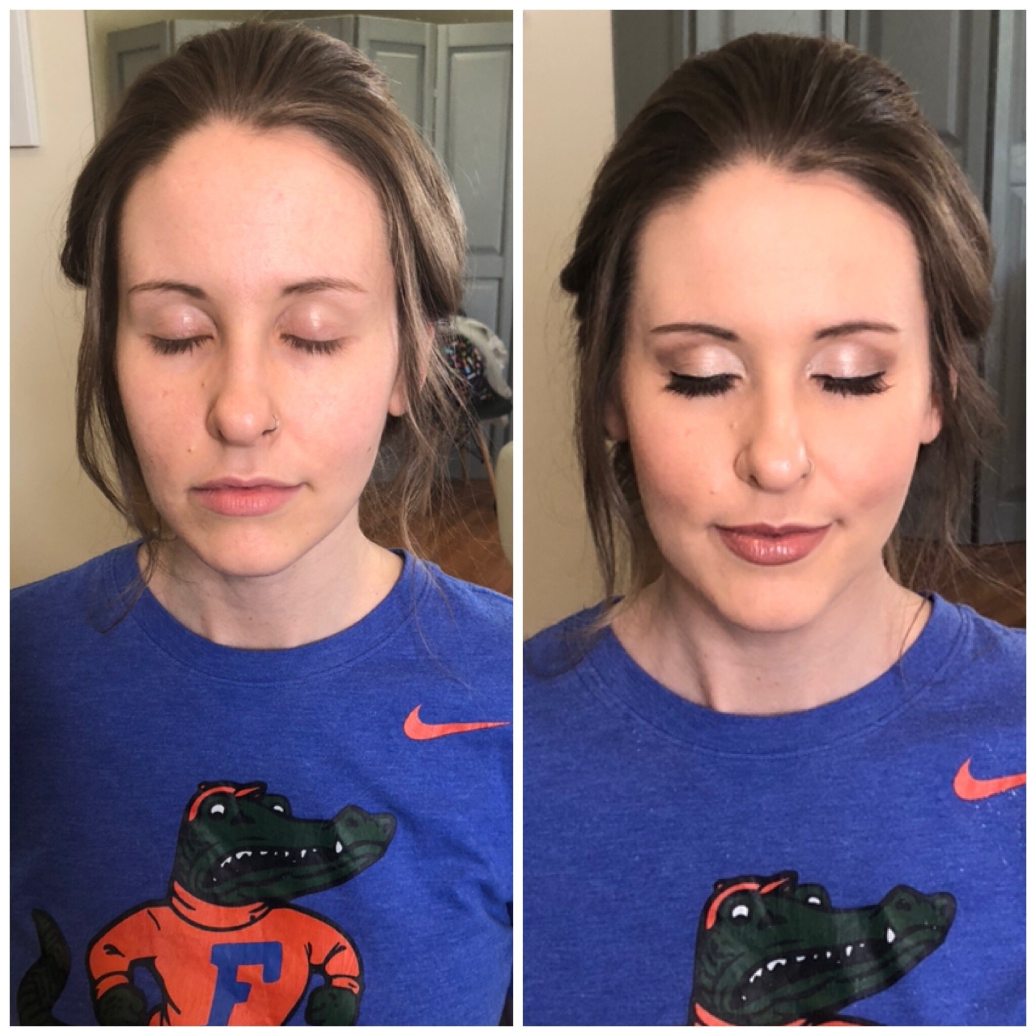 Soft Glam Makeup - Before & After