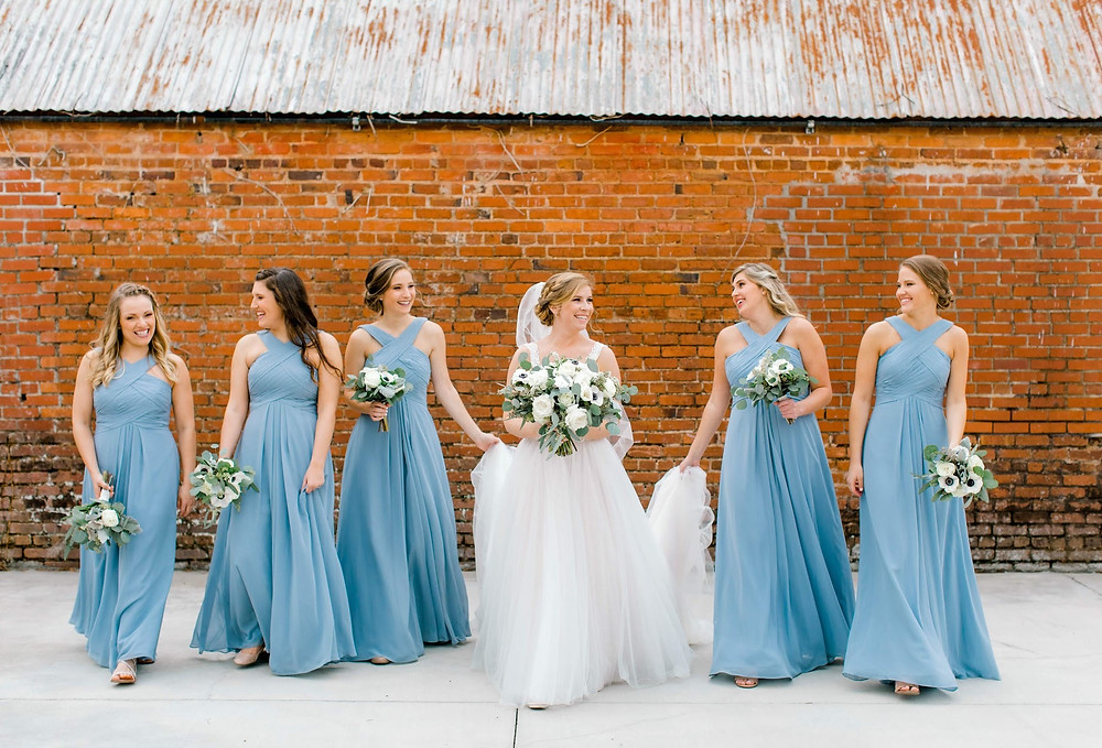 Bride hair and makeup at Empire Mills in Madison GA - Photo shot by South & West Photo.