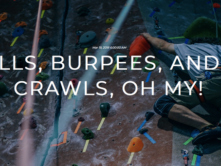 Barbells, Burpees, and Bear-Crawls, Oh My!