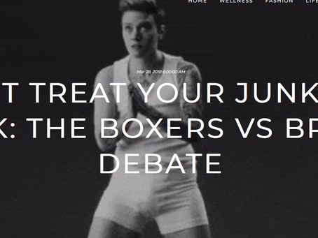 """Boxers or Briefs? There's No Right Answer (the right answer is """"never boxers"""")"""