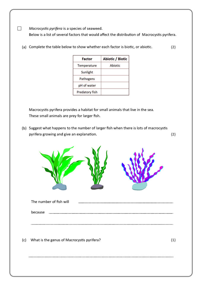 Biology question example