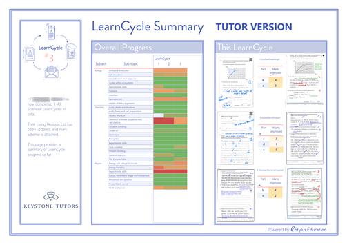 EXAMPLE Tutor Report - Science (Improvem