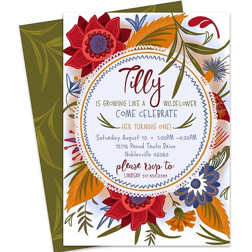 Wildflower Invite