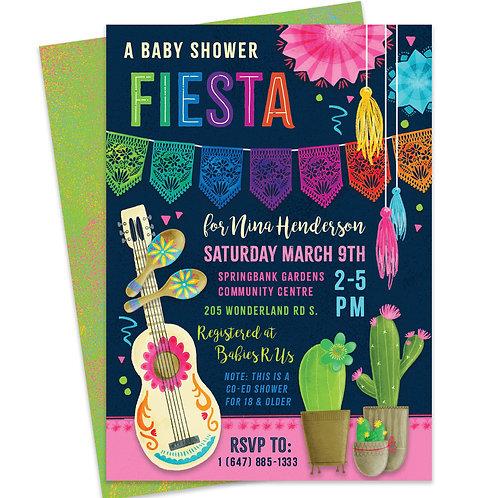 Mexican Fiesta Invite, Cinco de Mayo Party Invite, Fiesta Baby Shower