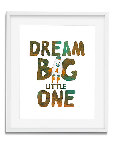 Dream Big little one, planets wall art, solar system wall art, planets boys room decor, solar system room decor, nursery wall