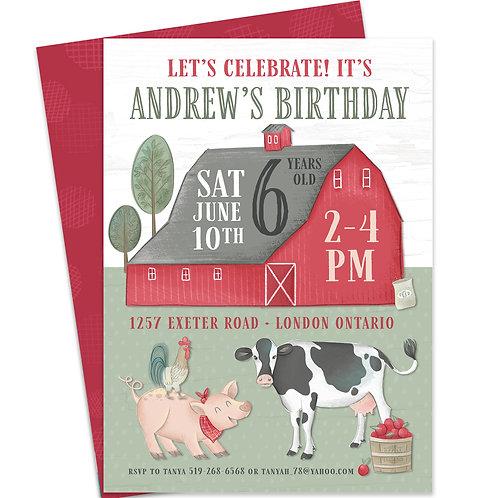 Barnyard Invite