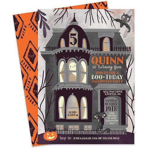 Halloween Haunted House Invite