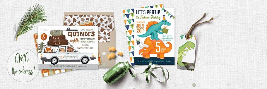 Boy Birthday Invitations | Fineapple Pair | Ontario