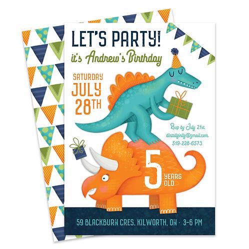 Dinosaur Birthday Dinosaur Invite Dinosaur Birthday Invitation Birthday Invite Dino Dinosaur Party Dino Party Invite Dino Inv