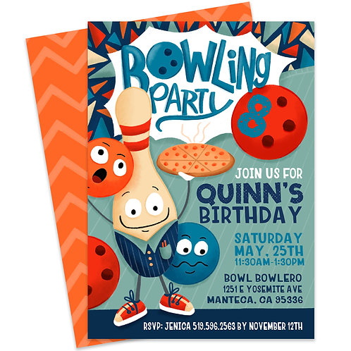 Bowling Party Invite