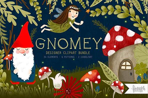 Gnome Clipart Gnome Digital Paper Gnome Graphics Forest Gnome Clipart Fairy Digital Paper Fairy Clipart Gnome Fairy forest cl