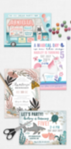 Birthday Invitations,Baby shower Invitations