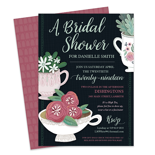 High Tea Shower High Tea Invite Tea Party invite Tea Party Shower Tea Party Printable Tea Cup Printable Tea Cup Invitation Te