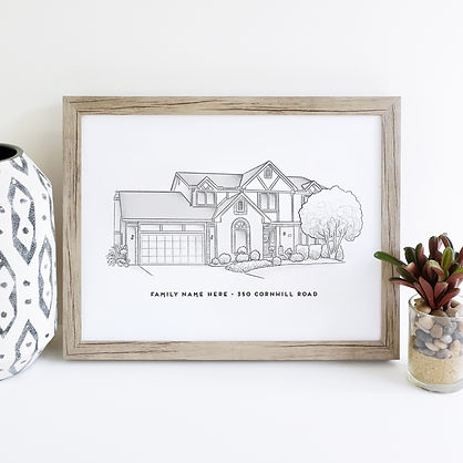 Hand Illustrated Houses