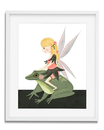 Girls room fairy wall art, fairy room decor, fairy themed rooms, girl room themes, fairy and frog, princess and frog, wall ar