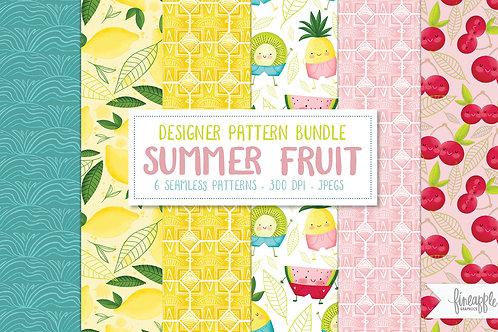 Fruit Digital paper, summer fruit digital paper, tropical digital paper, summer digital paper, fruit, tropical fruit, waterme