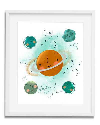 planets wall art, solar system wall art, planets boys room decor, solar system room decor, nursery wall art, boys, planets, b