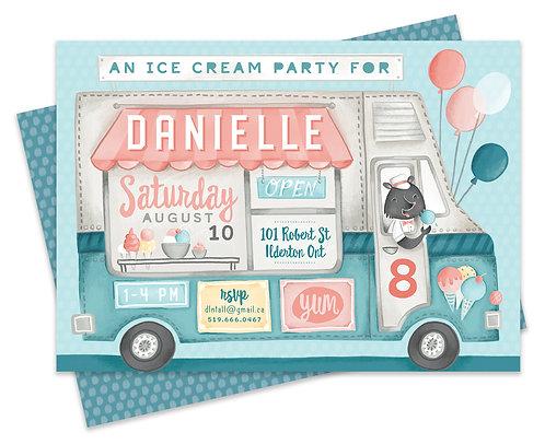 Ice Cream Shop Invite