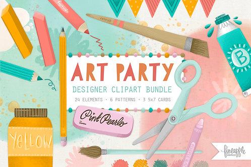 Cute School Supplies Clipart, Art School Clipart, Arts and Crafts Clipart, Digital Download, Instant download, SGV, PNG