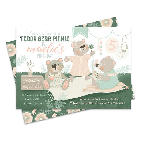 Teddy Bear Picnic Invite