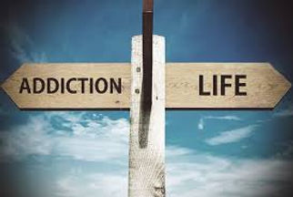 Signpost addiction or life