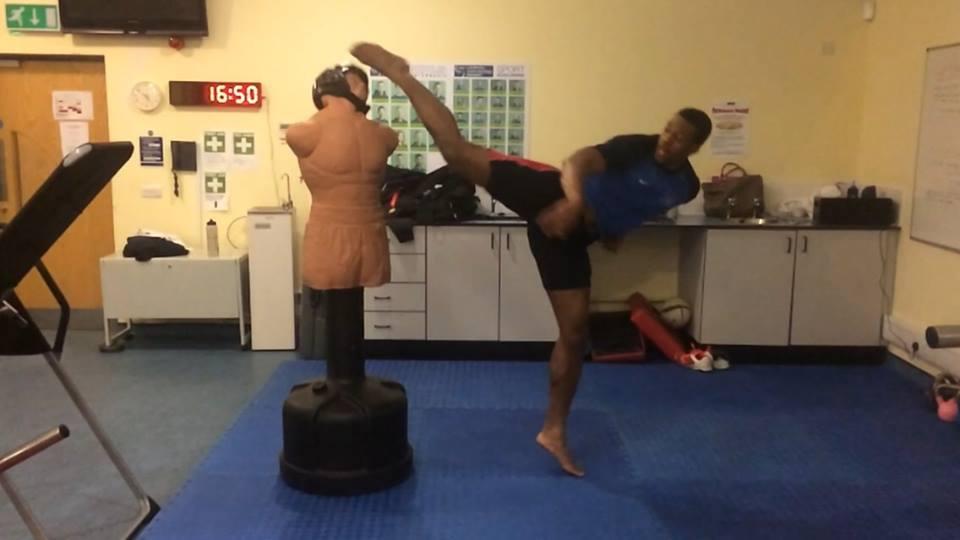 Kicking practice