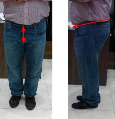 Testesebb alkatú férfiak  Viselje a nadrágot alacsonyabban, a deréknak ejtettnek kell lennie és sliccnél rövidebbnek. Csak a szabók tudják így kiszabni és megvarrni a nadrágot.