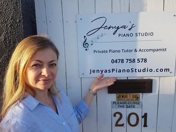 Jenya's Piano Studo Sign