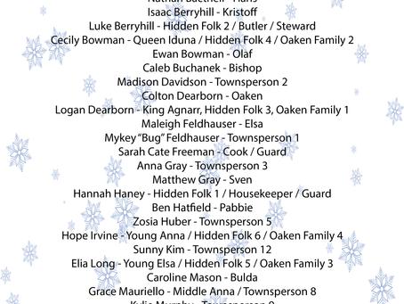 Frozen Jr. Cast!