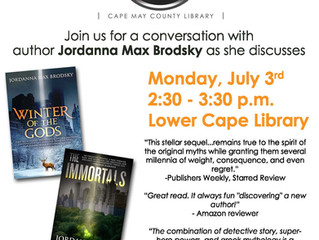 Reading and Signing in Cape May, NJ on July 3rd