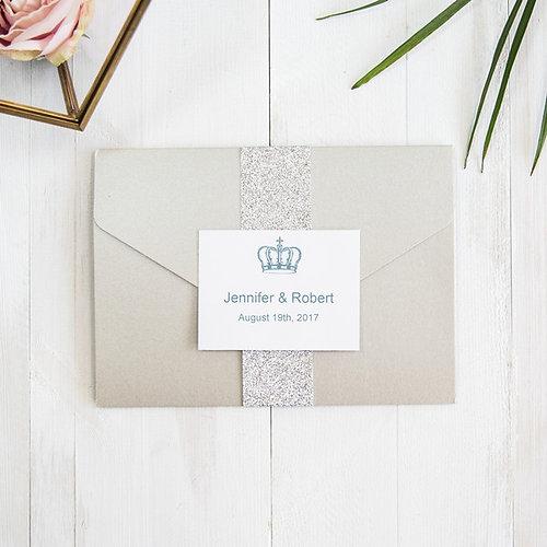 Wedding Invitations Elegant Invites Pocket Modern Silver