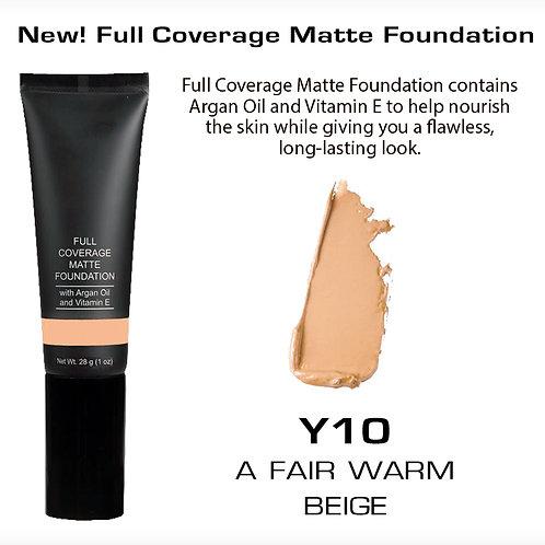 Full Coverage Matte Foundation - A Fair Warm Beige