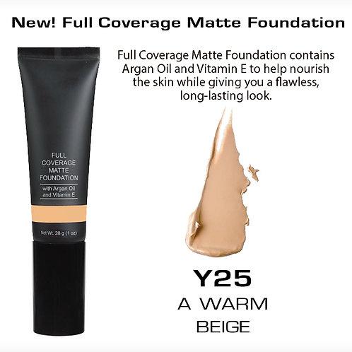 Full Coverage Matte Foundation - A Warm Beige