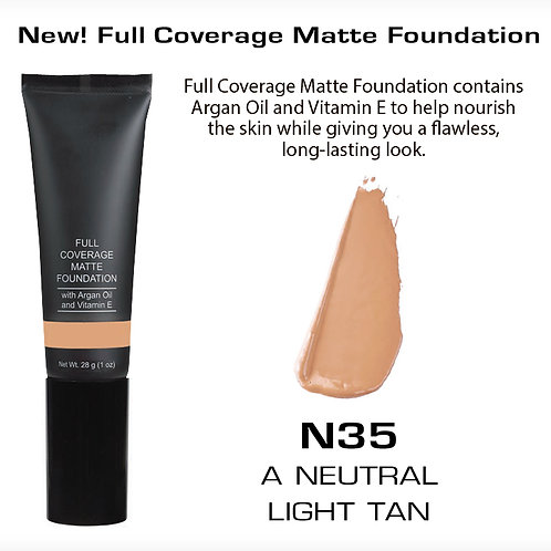 Full Coverage Matte Foundation - A Neutral Light Tan