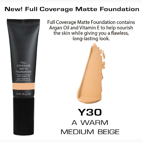 Full Coverage Matte Foundation - A Warm Medium Beige