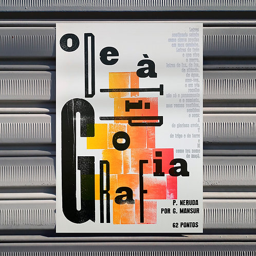 Poster Ode à Tipografia