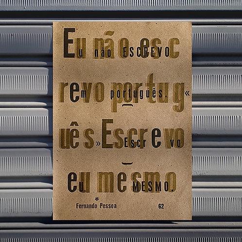 Poster Escrevo Eu Mesmo