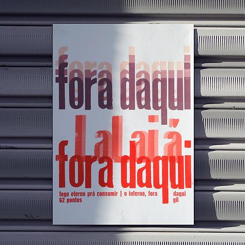 Poster Fora Daqui