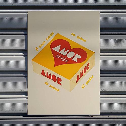 Poster Amor de Paçoca