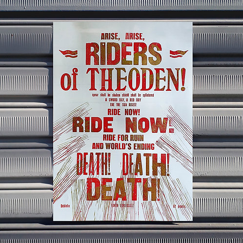 Poster Riders of Theoden