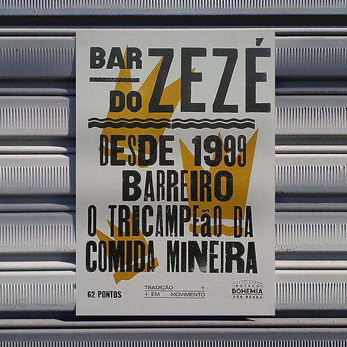 Poster Bar do Zezé