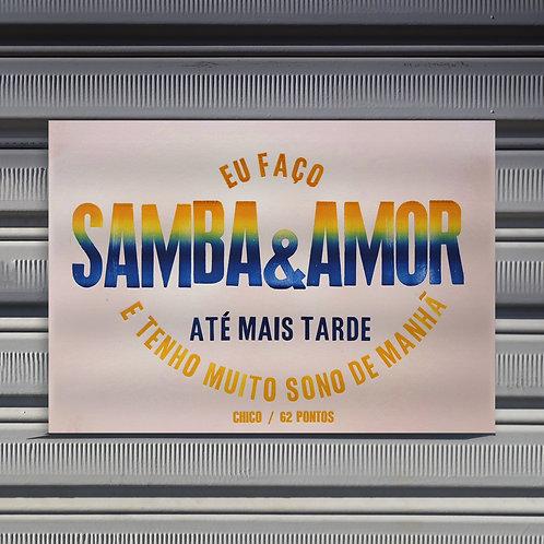Poster Samba & Amor