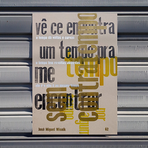 Poster Tempo sem tempo